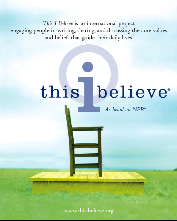 submit this i believe essays npr Modeled on the popular 1950s radio series of the same name hosted by edward r murrow, this i believe - new england,  submit an essay this i believe new england: a surprising teacher.